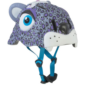 Crazy Safety Leopard Helmet Girls purple